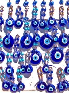 "QVC - J142411 - Sterling 8"" Glass Evil Eye Bracelet customer"